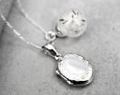 925 Silber Echte Pusteblumen Kette mit Medaillon