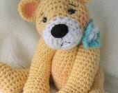 SALE Crochet Pattern Favorite Teddy Bear by Teri Crews instant download PDF format Crochet Toy Pattern
