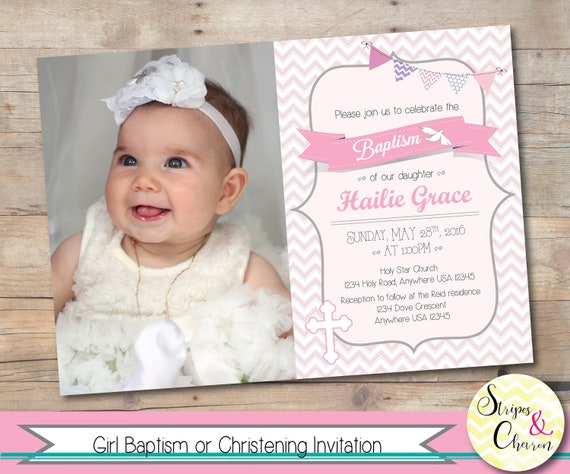 il_570xn - Invitation Card For Christening