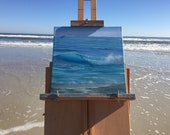 Ocean Calling - Waves at Miami Beach Seascape Oil Painting on Canvas by Eva Volf