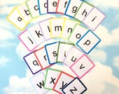 Printable PDF download, Lowercase Letters flash cards, Phonics, Key word, Literacy, Home learning, Learning cards, print and cut out at home