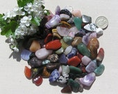 80 Individual Crystals, 300gr Lucky Dip Bag of Assorted Crystal Tumblestones, Chakra Crystals, Crystal Collection, Meditation Stone