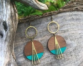 Wooden Earrings - Night Out