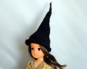 Sindy Hat Black Alpaca Wool Witches Halloween Gothic Style