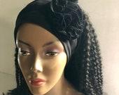 Black Headband Carnation Flower
