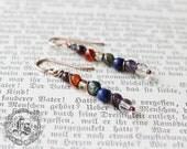 Bifrost Wands. Rainbow Chakra Stone Earrings.