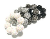 Baby, Toddler, Girls, Teen, Ladies All Bling Sparkle Chunky bracelet - Silver bracelet - Flower girl bracelet - Black and White bracelet