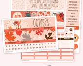 OCTOBER Monthly View Planner Sticker Set | Fits ECLP or Classic Happy Planner