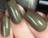 Fell Beast Nail Polish - green/gold/grey duochrome - VERY limited edition