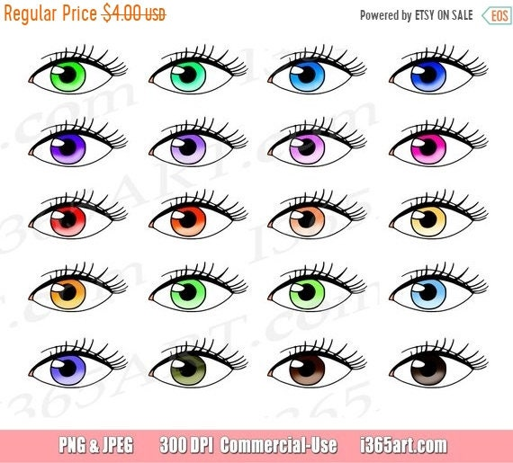 50 OFF Eyes Clipart Clip Art Vision Eyelashes Watching
