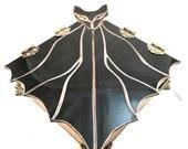 Stained Glass Bat Jewelry Box - Amber