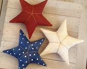 Patriotic Stars 4th of July Americana Decor Independence Day Farmhouse Decor Rustic Decor Primitive Home Decor Shabby Decor Ready to Ship
