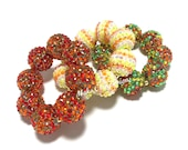 Baby, Toddler, Girls, Teen, Ladies All Bling Sparkle Chunky bracelet - Fall Bracelet - Brown and Orange - Candy Corn jewelry