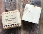 Vegan Organic Soap - Patchouli & Orange - Musky - Scrub - Handmade Artisan Soap - Solid Bar Soap - Soap for Men