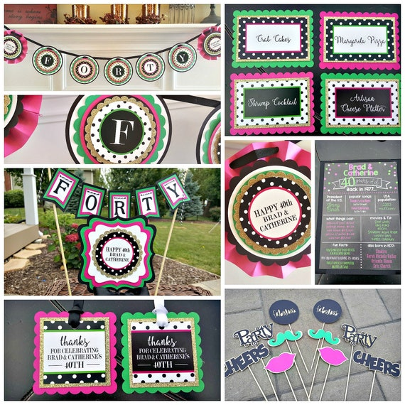 PREPPY BIRTHDAY PARTY Package Modern Preppy 40 And Fabulous 40th