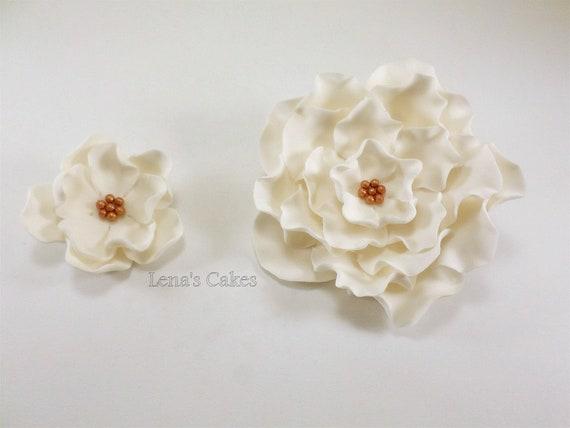 11 edible sugar flowers for cake decoration white fondant roses il570xn mightylinksfo