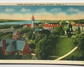 Cornell University,  Vintage Postcard, Ithaca New York, Cornell souvenir, Cayuga Lake, Cornell postcard, Cornell Campus