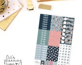 Midnight Floral Add-On Headers, Pattern Headers, and Date Cover Planner Stickers