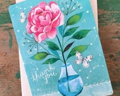Thank You | Katie Daisy | Glitter Greeting Card