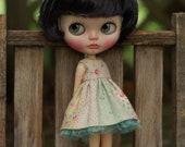 Summer Linen Dress for Blythe Doll