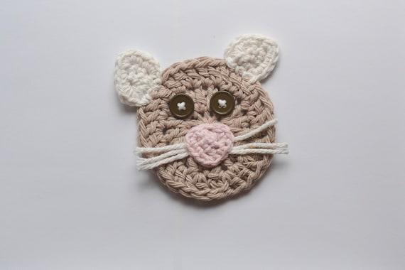 Crochet Cat Applique Cat Applique Cat Embellishment Kitty