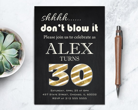 30th surprise party invite gold and black surprise adult birthday il570xn filmwisefo