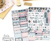 Midnight Floral 2 Page Planner Sticker Kit