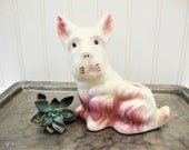 vintage scottish terrier scottie dog small window sill planter vase