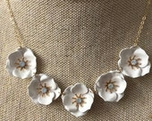 White statement necklace, wedding jewelry for brides, bridal jewelry, weddings, necklace for brides, wedding jewelry, bridal necklace