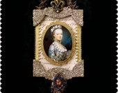 Victorian Christmas ornament.  Angel ornament. Marie Antoinette ornament. Vintage Christmas ornament. Dresden. Marie Antoinette FS1802