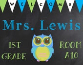 Classroom Door Sign ~ Name Sign~ Personalized Classroom  ~ Downloadable~ Printable   !