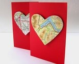 Map my heart valentines card