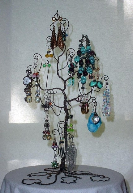 Etsy :: Jewelry Tree Display Stand Earring Necklace Bracelet Holder Rack