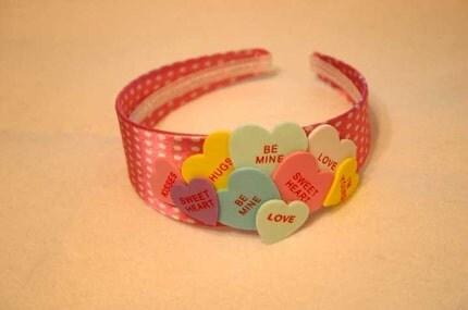 Cute candy heart polkadot