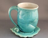 Cup on Leaf Saucer - Water Blue
