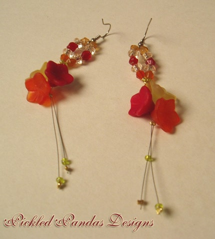 Dangly Flower Earrings
