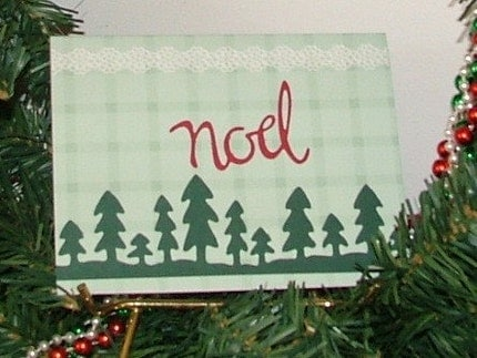 Four Noel Christmas Cards