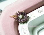 The Love Knot - PIPA Pendant in Purple Cat Eyes, Wired Chinese Knot