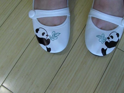 cutest panda shoes ever from etsy.com