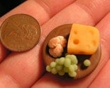 customized CHEESE TRAY for your dollhouse in 1/12 scale