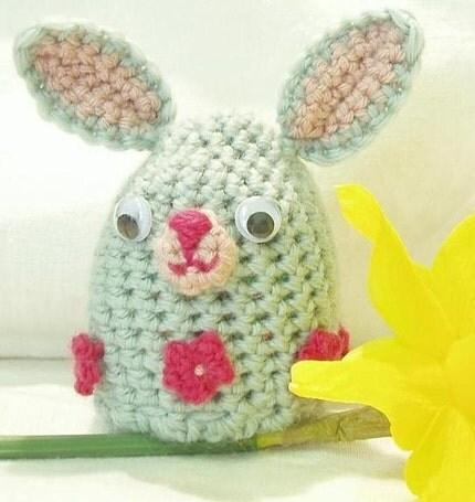Etsy :: Amigurumi-style Egg Cosy - Easter Bunny from etsy.com