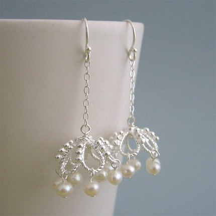 Victorian chandelier fresh water pearl