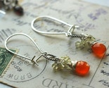 Fever or a flame - carnelian, lemon quatz and sterling earrings - bomba-luxe
