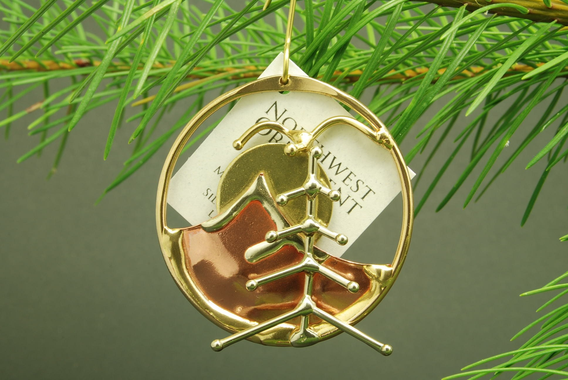 Etsy :: Christmas Tree Ornament :  copper mountain tree christmas