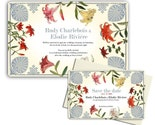 Art Deco Lilies - wedding invitation sample set