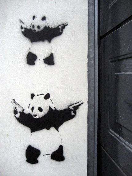 I'd like to imagine that once that Panda got out, he went on a crime spree,
