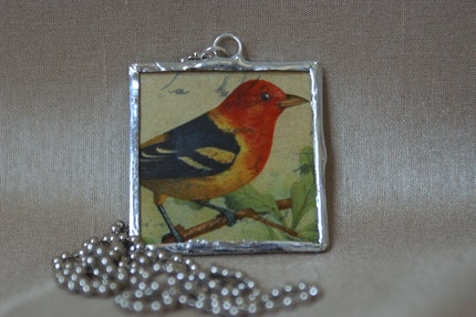 Soldered Bird Pendant Necklace