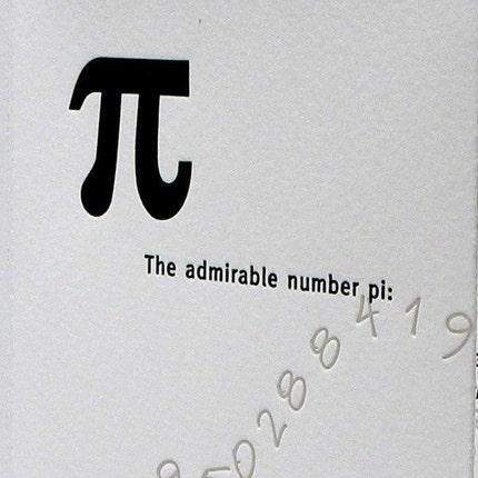 Pi (Letterpress Printed Artists Book) :: Etsy