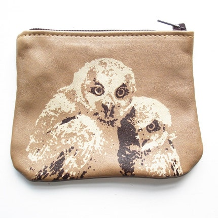 Etsy :: Little Taupe Changepurse With Two Broody Owls