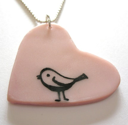 Mr. Cheeper Falls in Love - Polymer Pendant